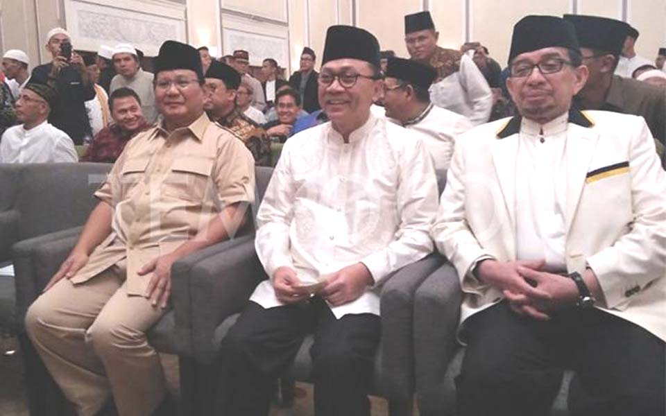 Prabowo and coalition party leaders attend GNPF event – July 27, 2018 (Tempo)