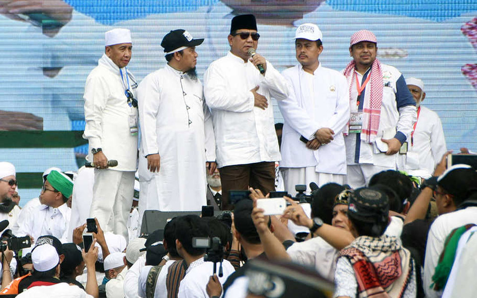 Prabowo speaking at PA 212 'reunion' – December 2, 2018 (panjimas)