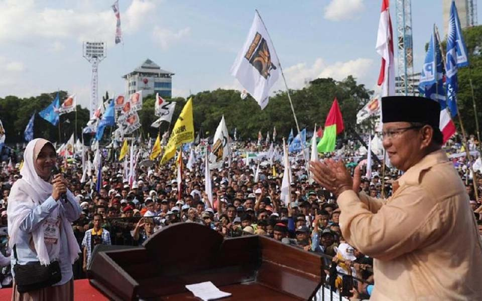 Prabowo Subianto campaign rally in Solo (Prabowo-Sandi Media Center)