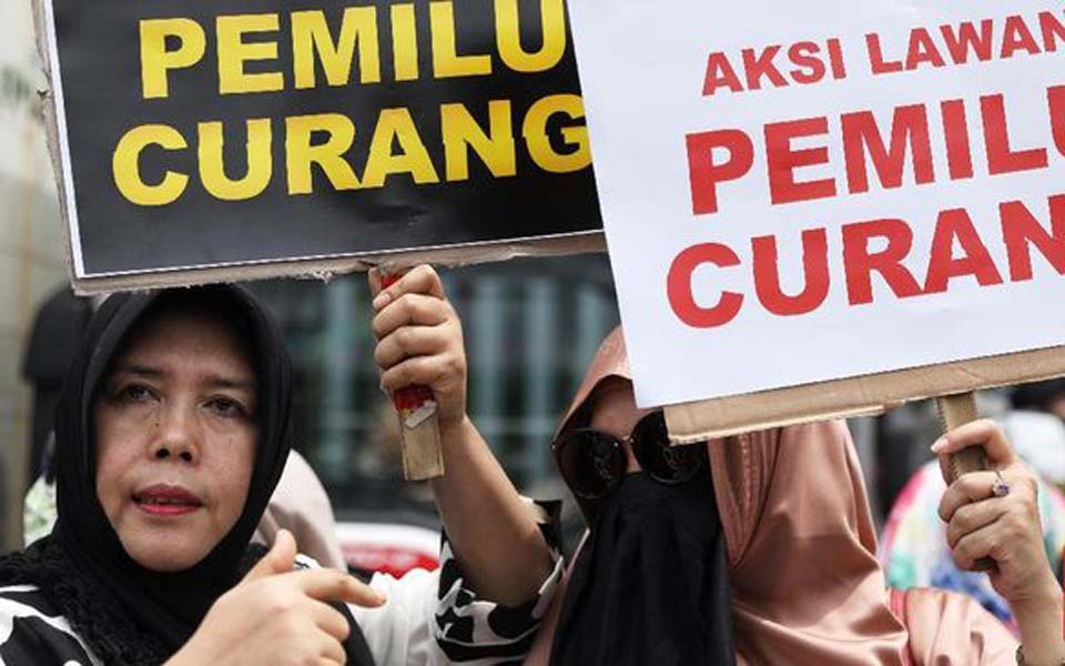 Prabowo supporters protest against 'fraudulent' elections (CNN)