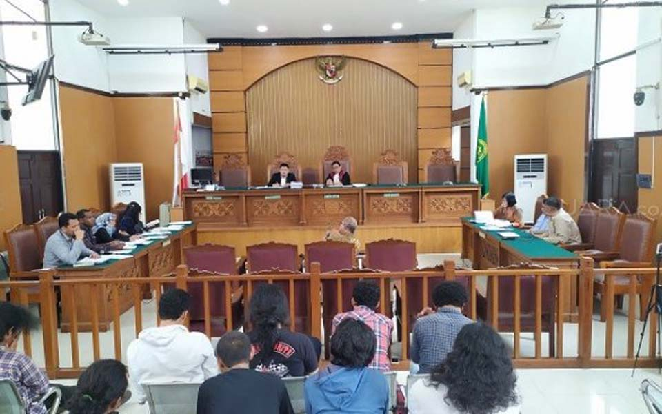 Pretrial hearing at South Jakarta District Court – December 4, 2019 (Suara)