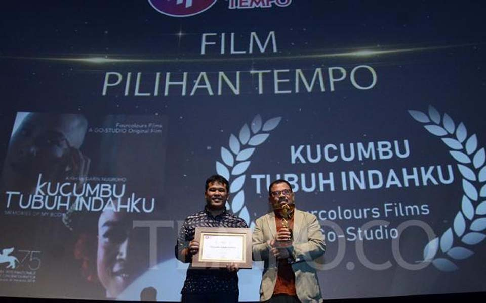 Producer Ifa Isfansyah and Nugroho at Tempo Film Festival – December 6, 2018 (Tempo)