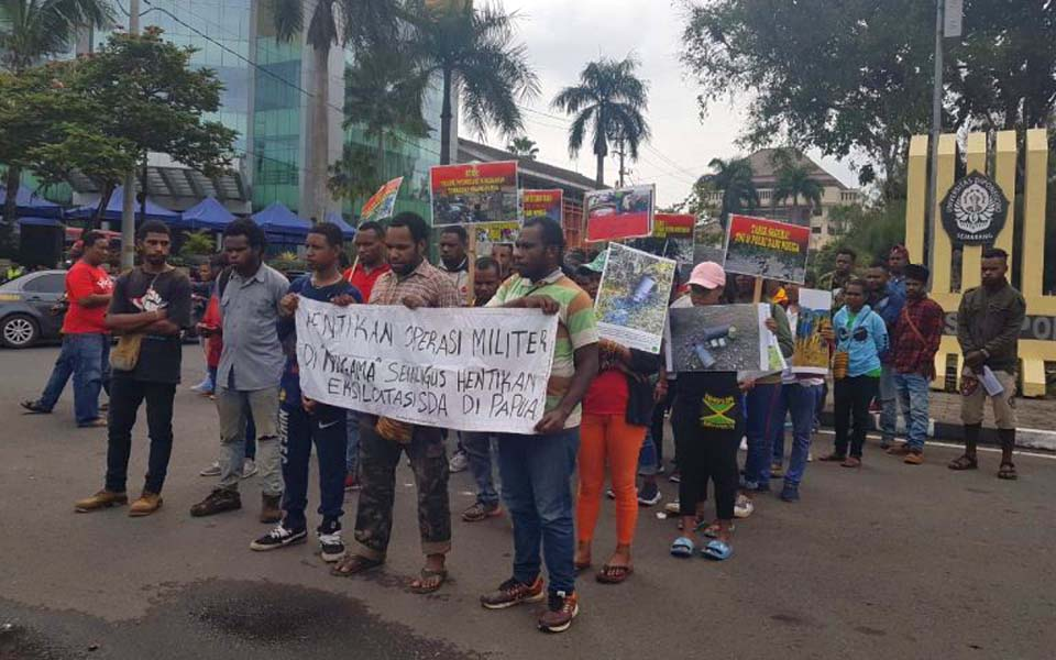 Protest calling for end to military operations in Nduga – March 23, 2019 (Arah Juang)