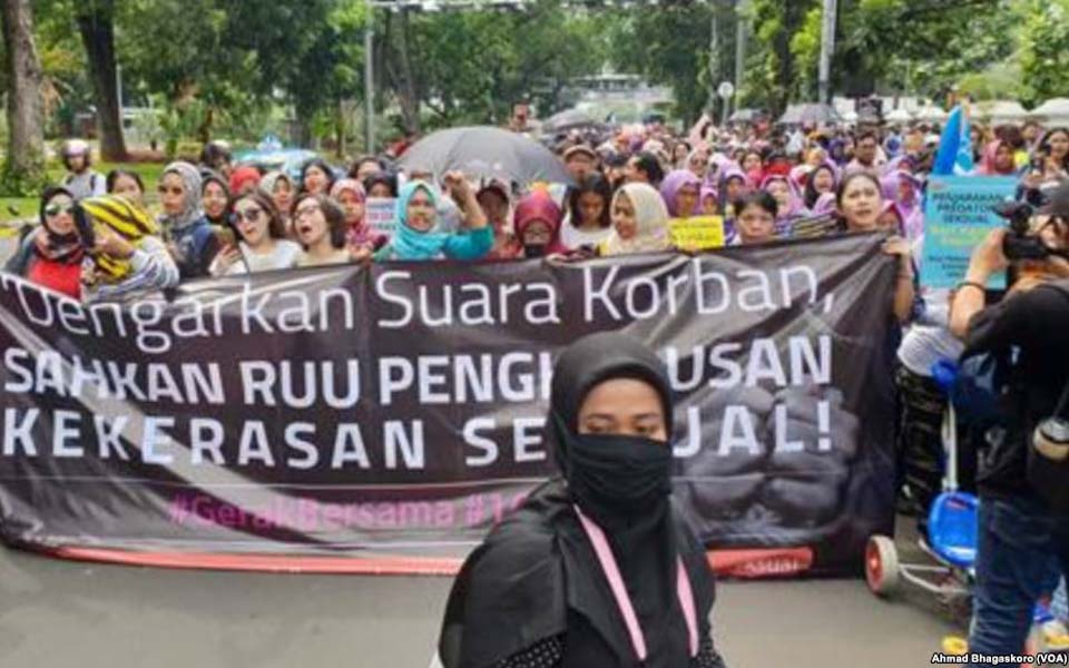 Rally calling for ratification of draft law on sexual violence – December 8, 2018 (VOA)