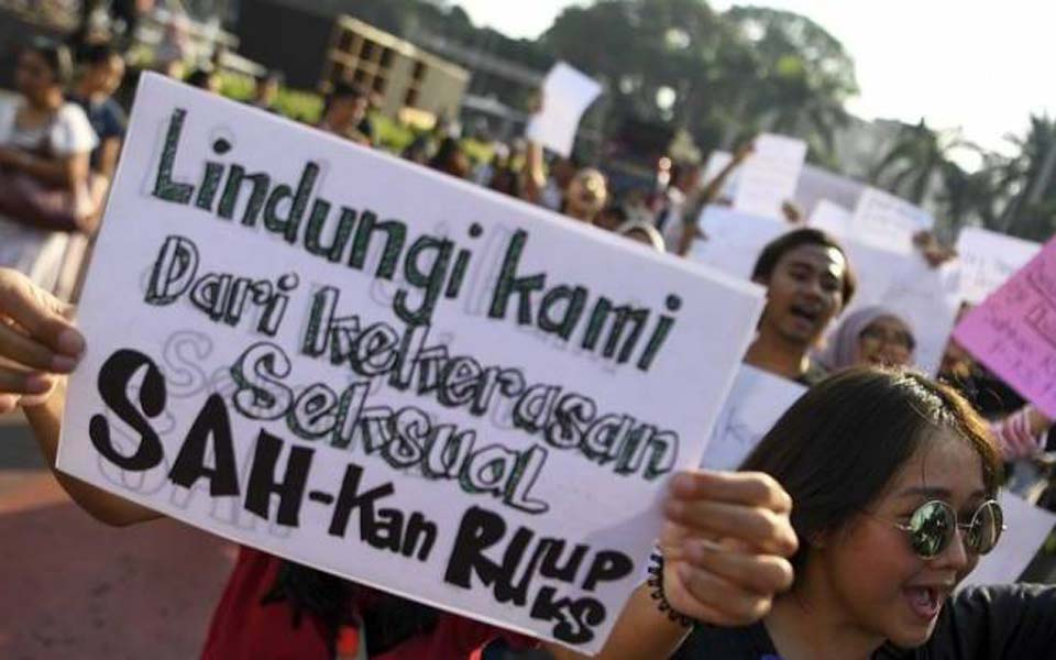 Rally demanding House immediately ratify sexual violence bill (KBR)