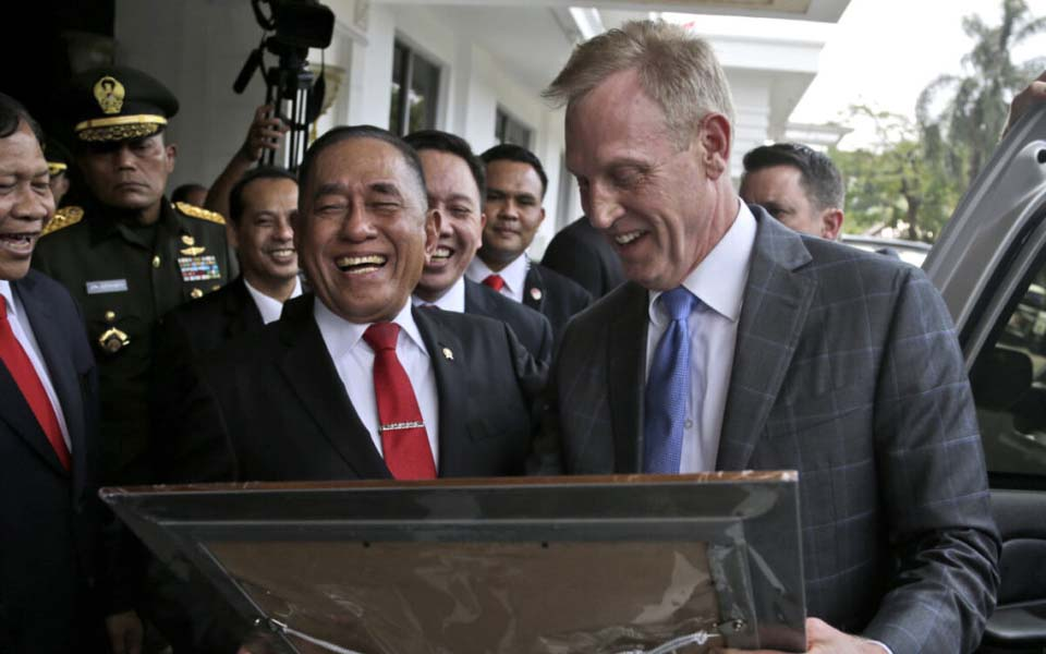 Ryamizard Ryacudu (left) and Patrick Shanahan (right) – May 30, 2019 (Kompas)