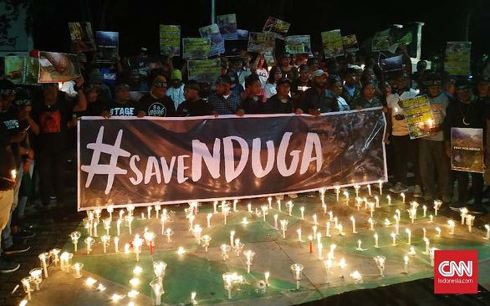 Solidarity action for Nduga in front of State Palace in Jakarta (CNN)
