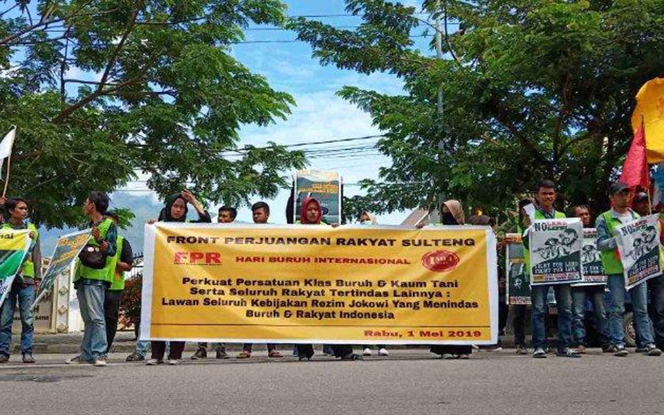 Students commemorate May Day in Palu – May 1, 2019 (Tribune)