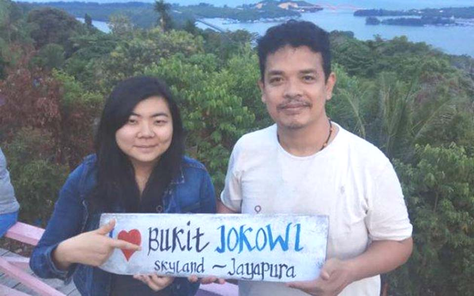 Surya Anta and rights lawyer Veronica Koman in Jayapura – Undated (Facebook)