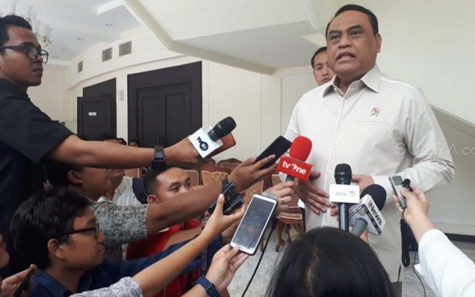 Syafruddin speaking to reporters – October 15, 2019 (Suara)