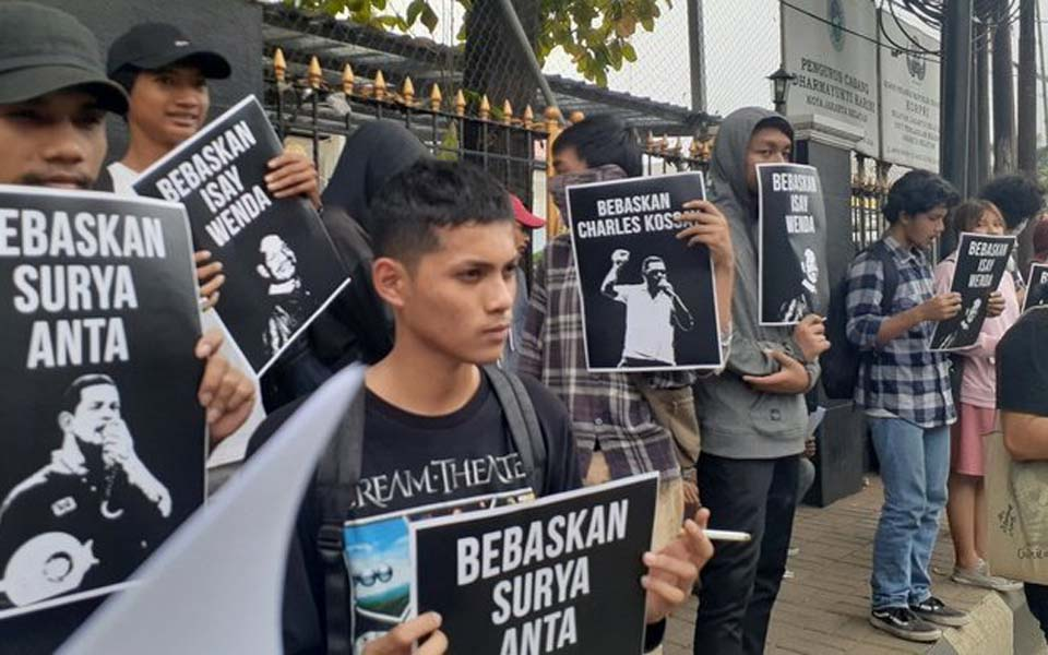 United Student Front rally in front of South Jakarta District Court – November 11, 2019 (Tirto)
