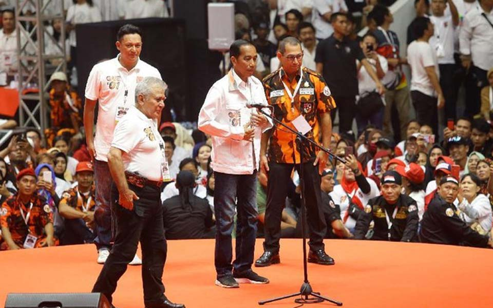 Widodo and PP chairperson Japto Soelistyo Soerjosoemarno – March 3, 2019 (Detik)