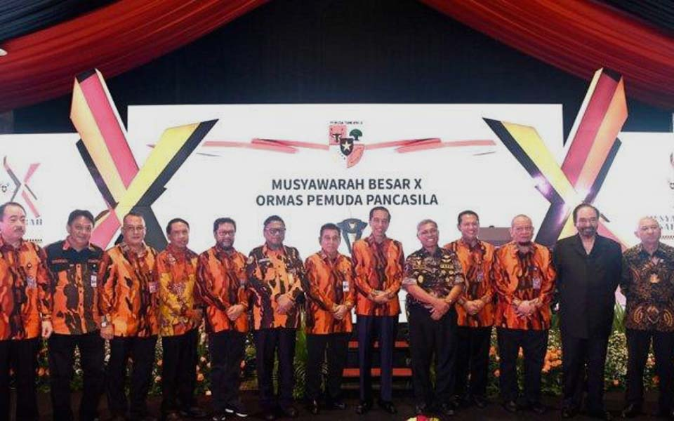 Widodo at Pancasila Youth 10th Convention in Jakarta – October 26, 2019 (Biro Setpres Istana)