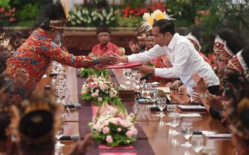 Widodo meeting with Papuan figures at Palace – September 10, 2019 (Antara)
