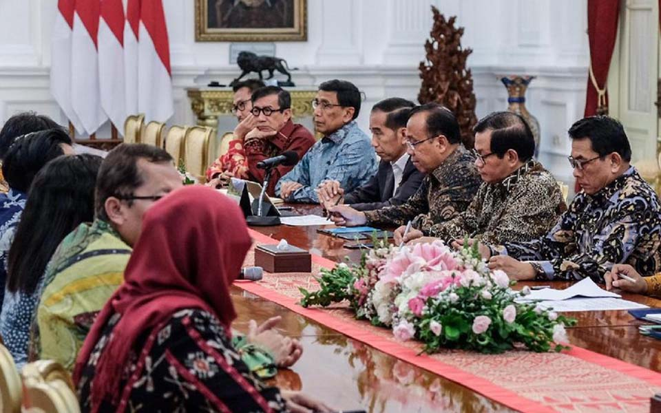 Widodo meets with DPR leaders at State Palace (Detik)