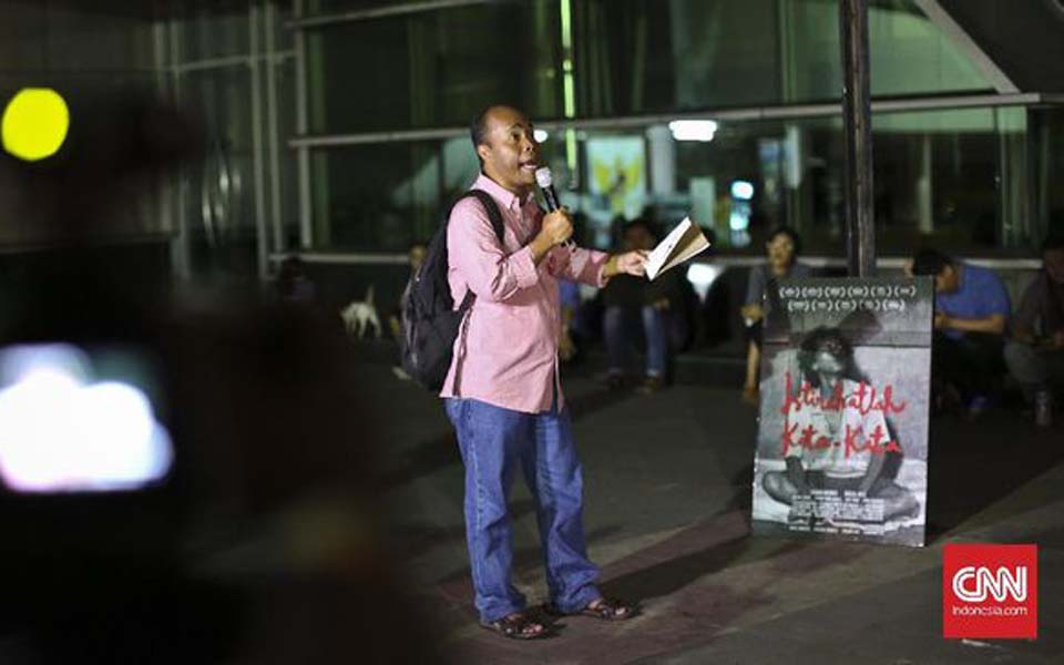 Wiji Thukul's younger brother Wahyu Susilo (CNN)