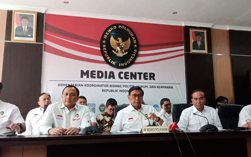 Wiranto speaking a press conference on Papua – September 2, 2019 (Detik)