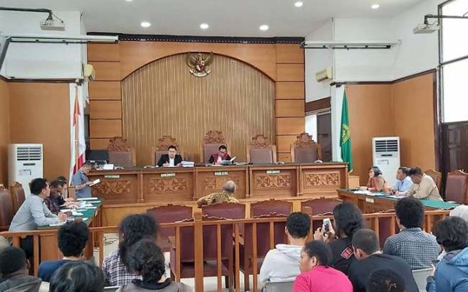 Witness gives testimony at South Jakarta Distric Court – December 4, 2019 (KBR)