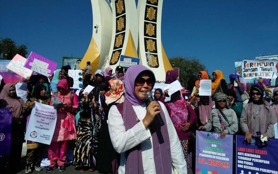 Women activists in Aceh call for ratification of RUU PKS – March 8, 2019 (Aceh Kita)