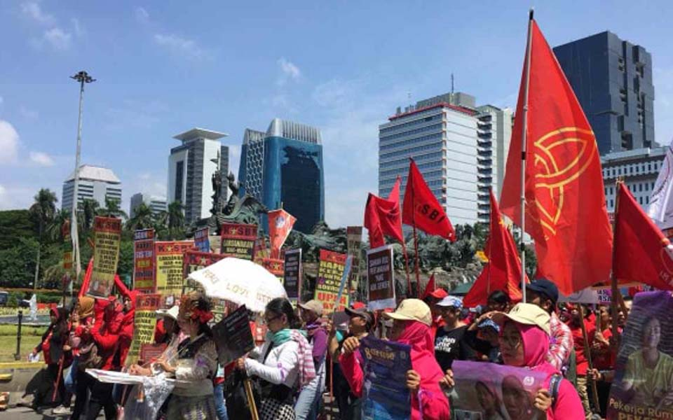 Women activists march on State Palace – March 8, 2019 (Kumparan)