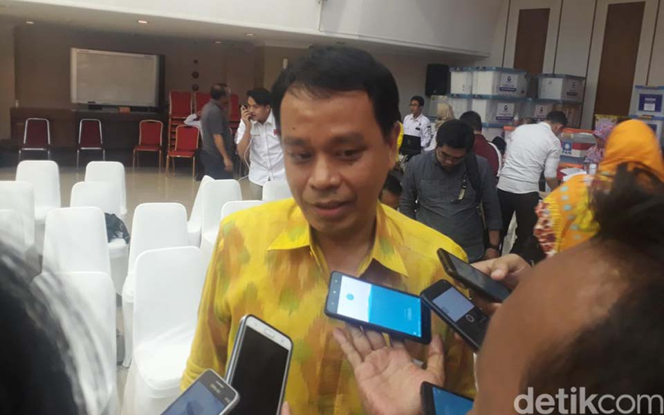 Working Party DPP chairperson Andi Badarudin Picunang – January 10, 2019 (Detik)